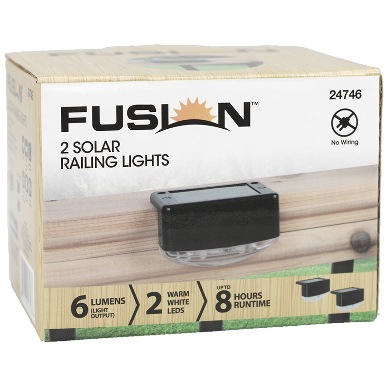 Fusion Solar Railing Light - Black - 24746