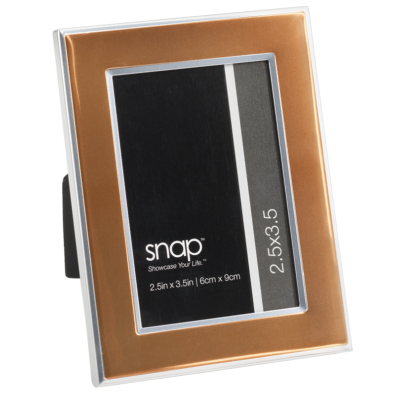 Snap Mini 2x3 Frame - Orange Metal - 12FM1634