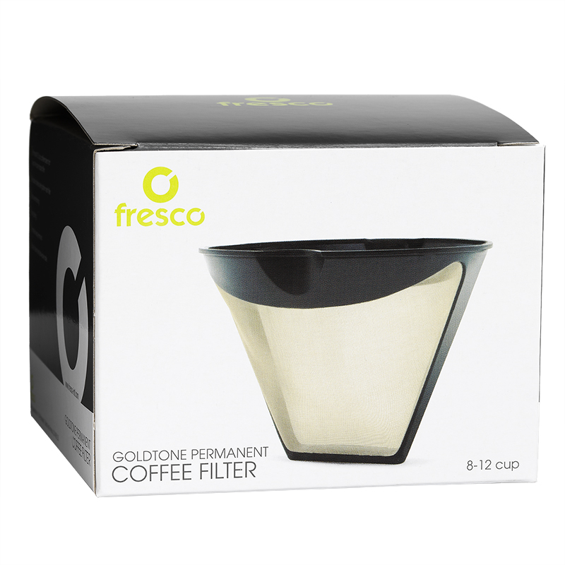Fresco Jasi Goldtone Cone Shaped Permanent Filter - KF-4T