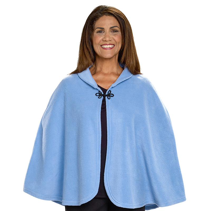 Silvert's Polar Fleece Bed Jacket - Steel Blue