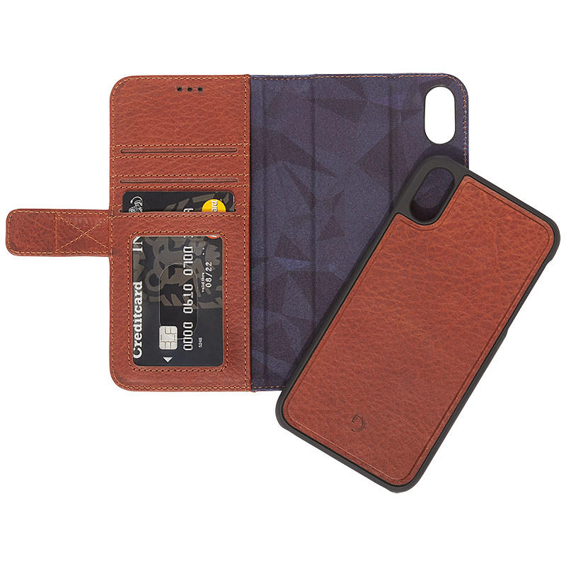 Decoded 2-in-1 Leather Wallet Case for iPhone Xs Max - Brown - DCD8IPO61DW1CBN