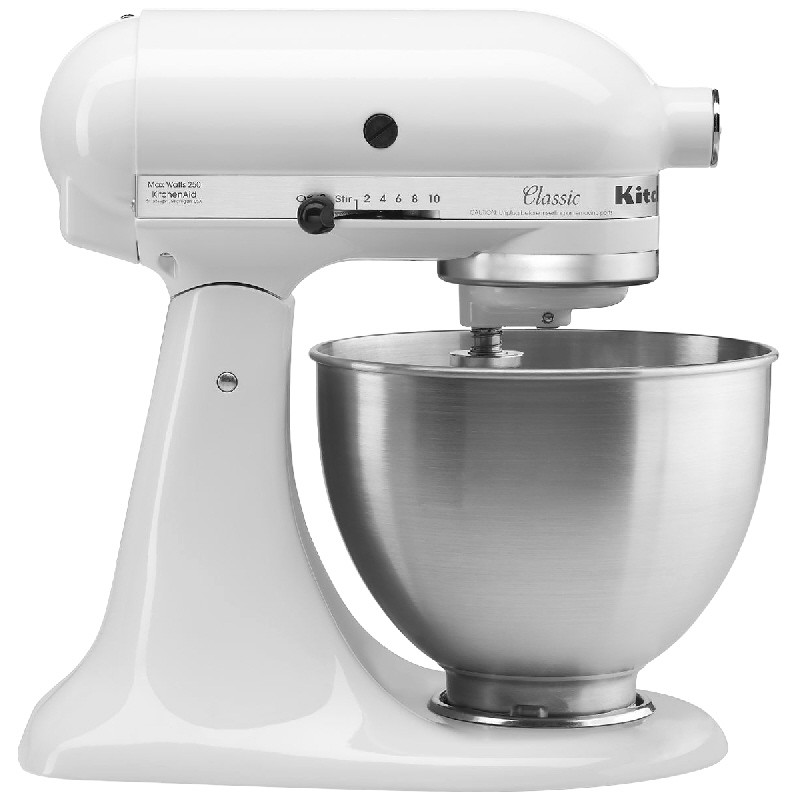 KitchenAid Classic 4.5 quart Stand Mixer - White - K45SSWH