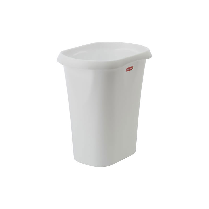 Rubbermaid Small Vanity Wastebasket - White - 12qt