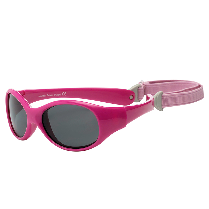 UVeez Wrap Around Sunglasses - Size 2 - Cherry Pink