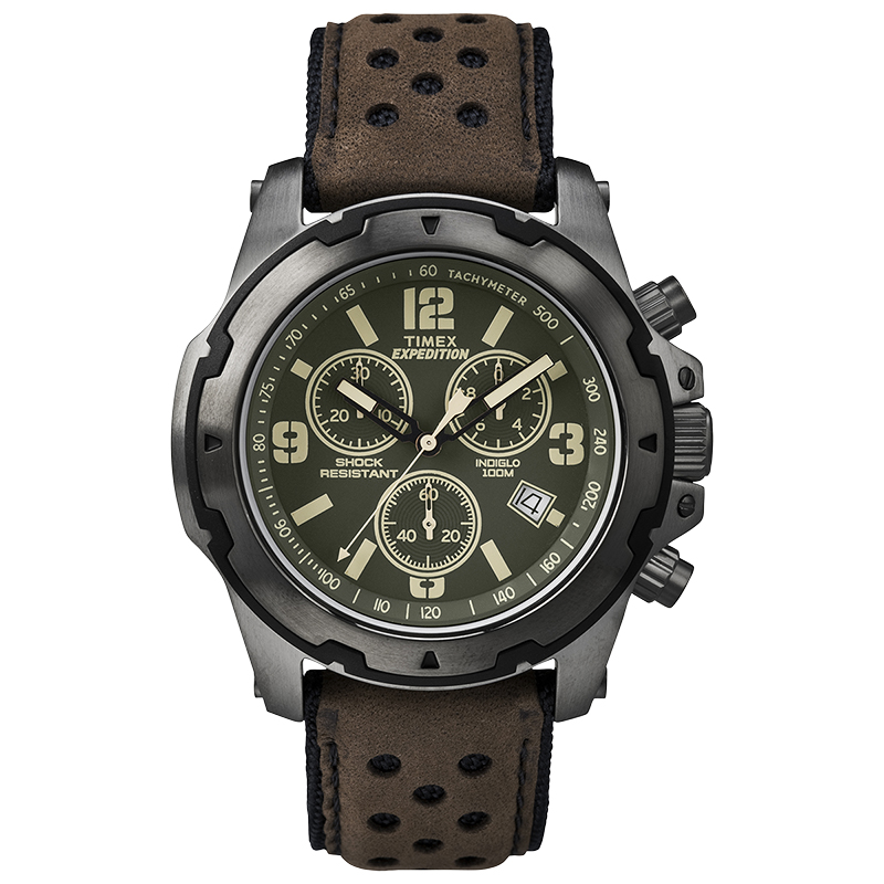 Timex Fashion Chronograph Watch - Brown/Black - TW4B01600CS