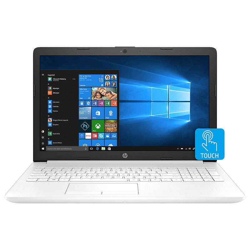 HP 15-db0040ca Laptop Computer - White - 15 Inch - AMD A6 - 4RB25UA#ABL