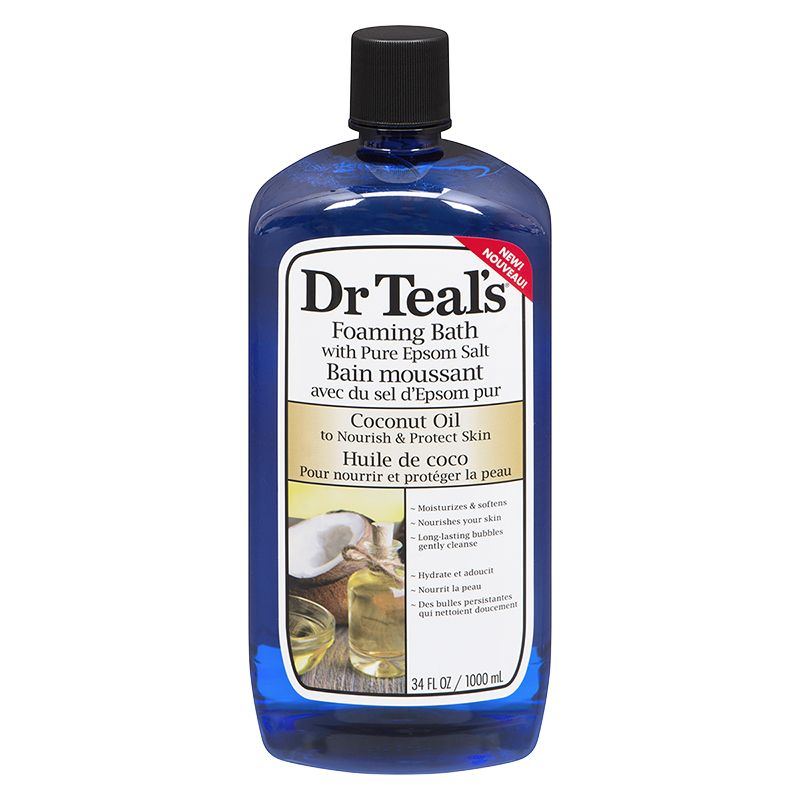 Dr Teal's Foaming Bath with Pure Epsom Salt - Coconut Oil - 1000ml