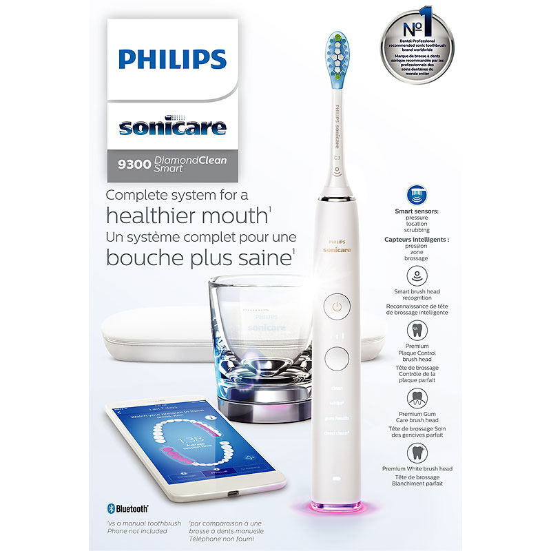 Philips Sonicare DiamondClean Smart Electric Toothbrush - White - HX9903/01