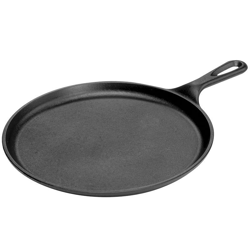 Lodge Cast Iron Round Griddle - Black - 9inch