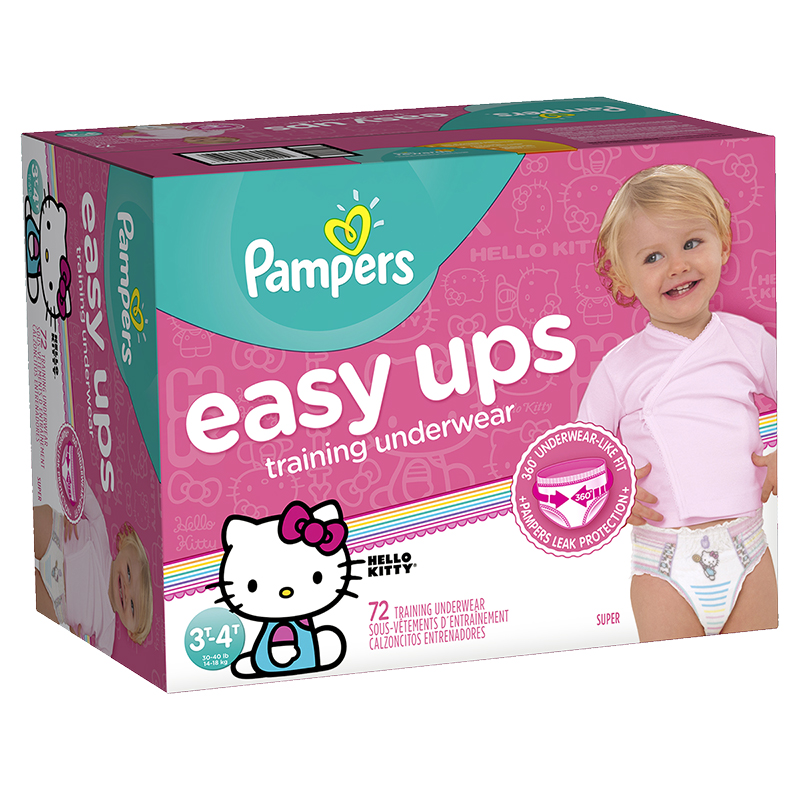 Pampers Easy Ups Training Underwear - 2T/3T - 80ct - Girls