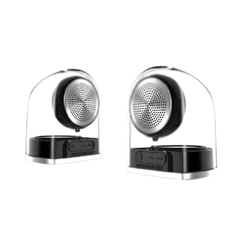 Sylvania Magnetic Bluetooth Speakers - Black - SP832