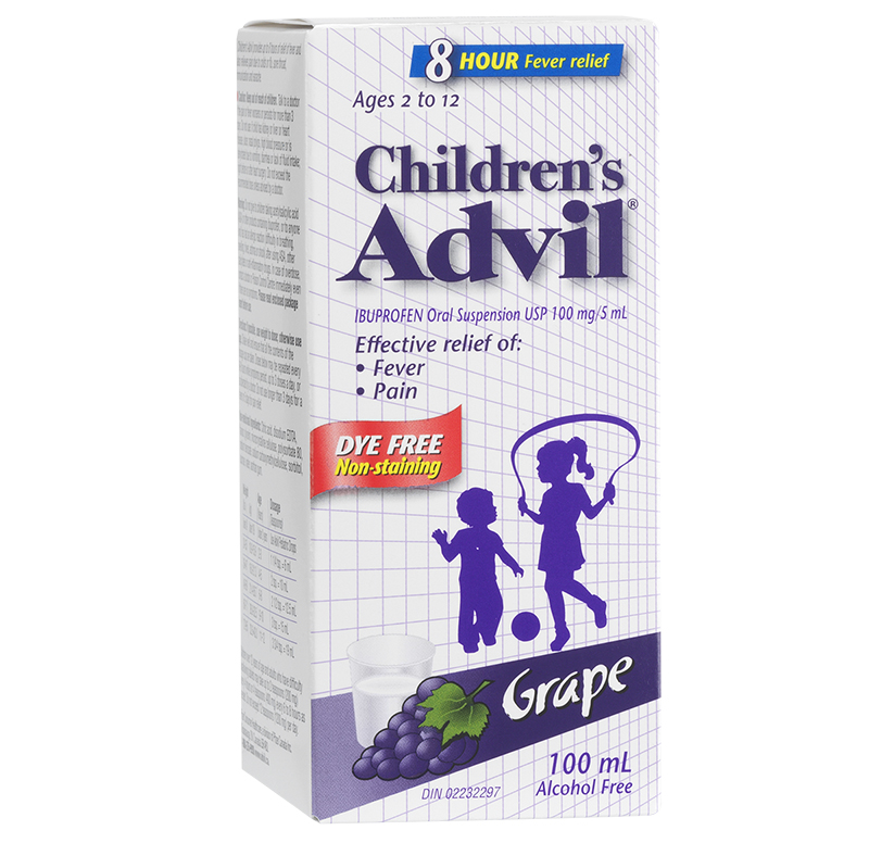 Advil Children's Suspension Dye-Free - Grape - 100ml