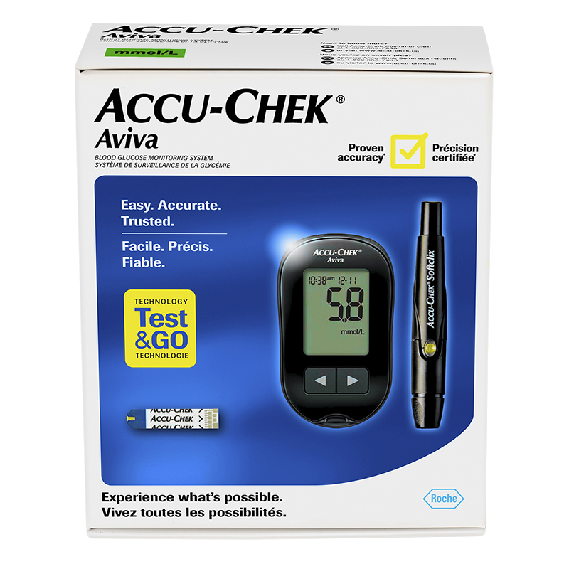 Accu Chek Aviva Blood Glucose Monitoring System Black