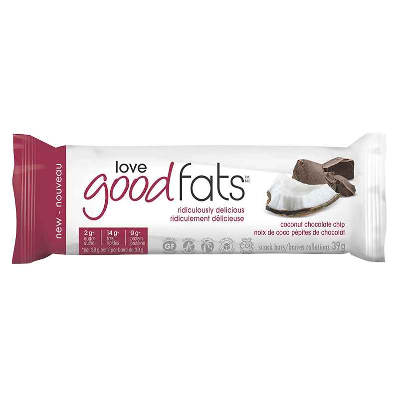 Love Good Fats Snack Bar - Coconut Chocolate Chip - 39g