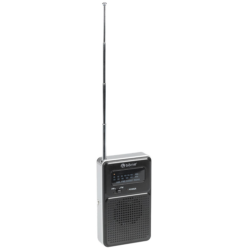 Borne Pocket AM/FM Radio - Black