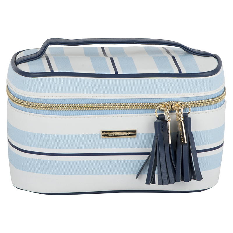 Sophia Joy Striped Tile Train Case - 2 piece - A011622LDC