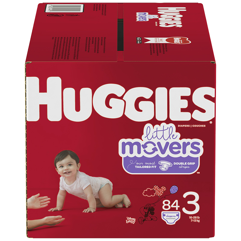 Huggies Little Movers Diaper - Size 3 - 84's