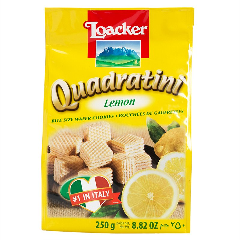 Loacker Quadratini - Lemon - 250g