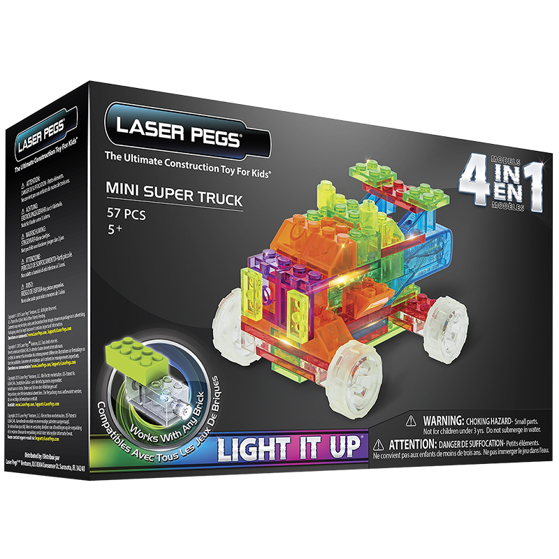 Laser Pegs 4 in 1 Mini Trucks