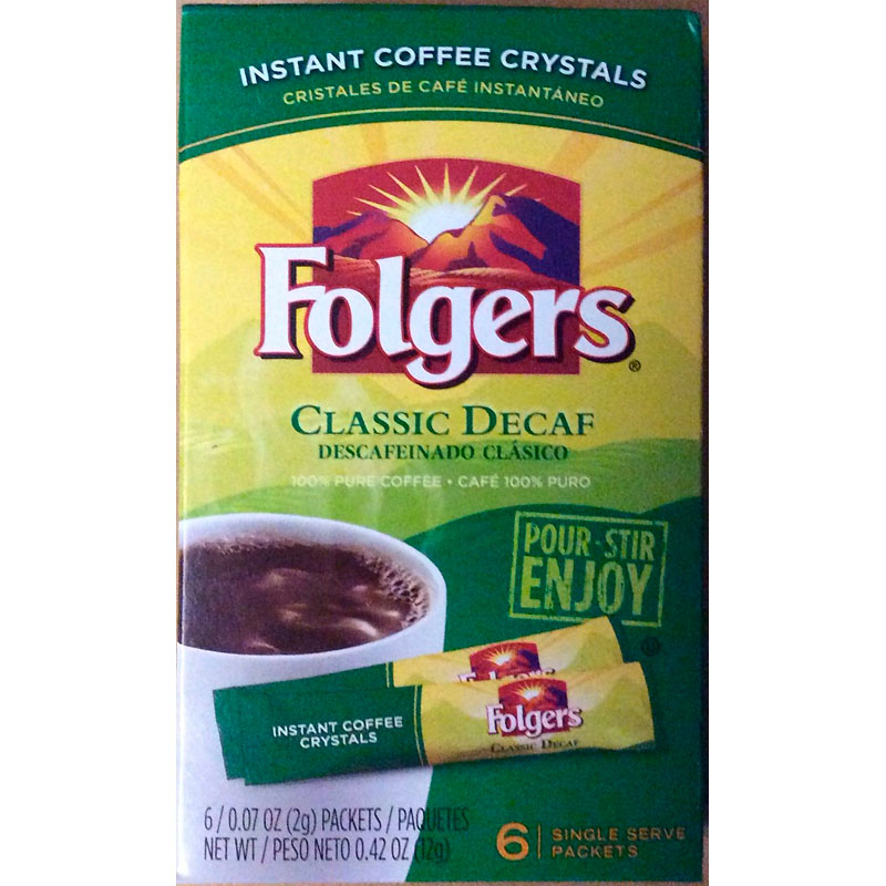 Folgers Instant Coffee - Classic Decaf - 6's