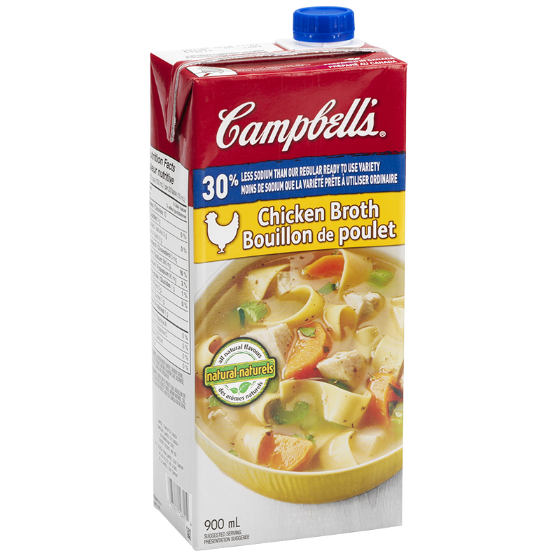 Campbell's Chicken Broth - Low Sodium - 900ml