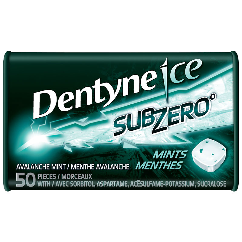 Dentyne Ice Subzero Mints - Avalanche - 50 pieces