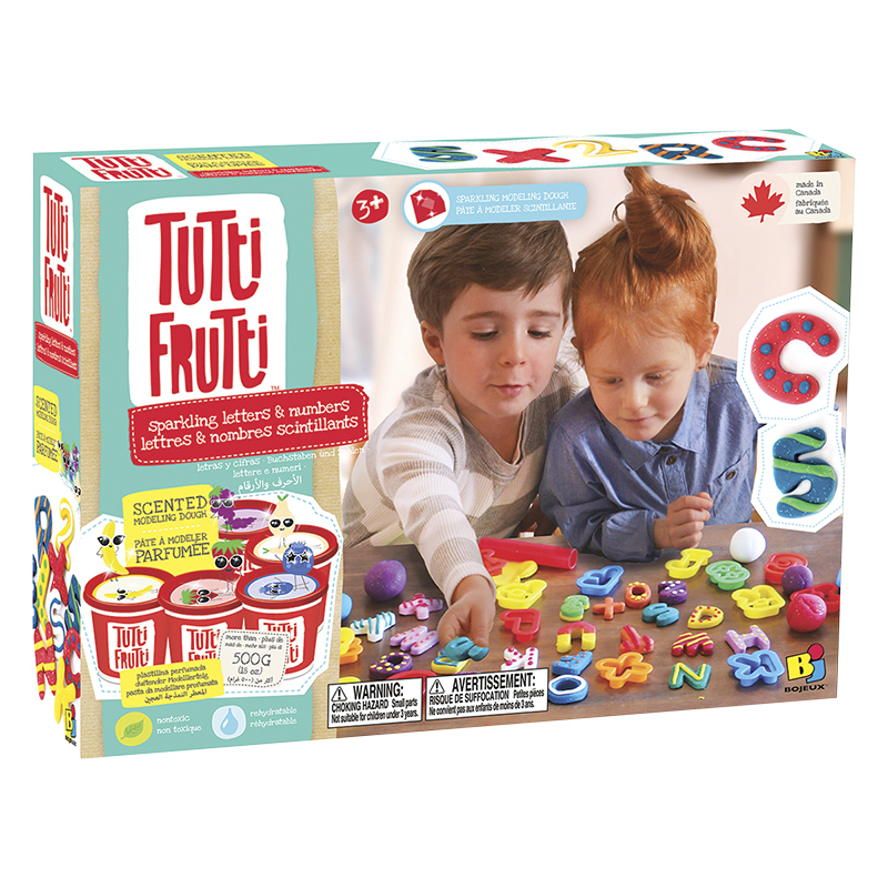 Bojeux Tutti Frutti Scented Dough Letters and Numbers Toy