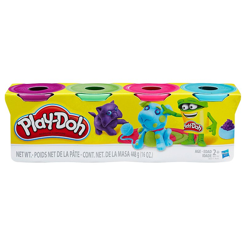 Play-doh Bright Colours Set - 4 Pack