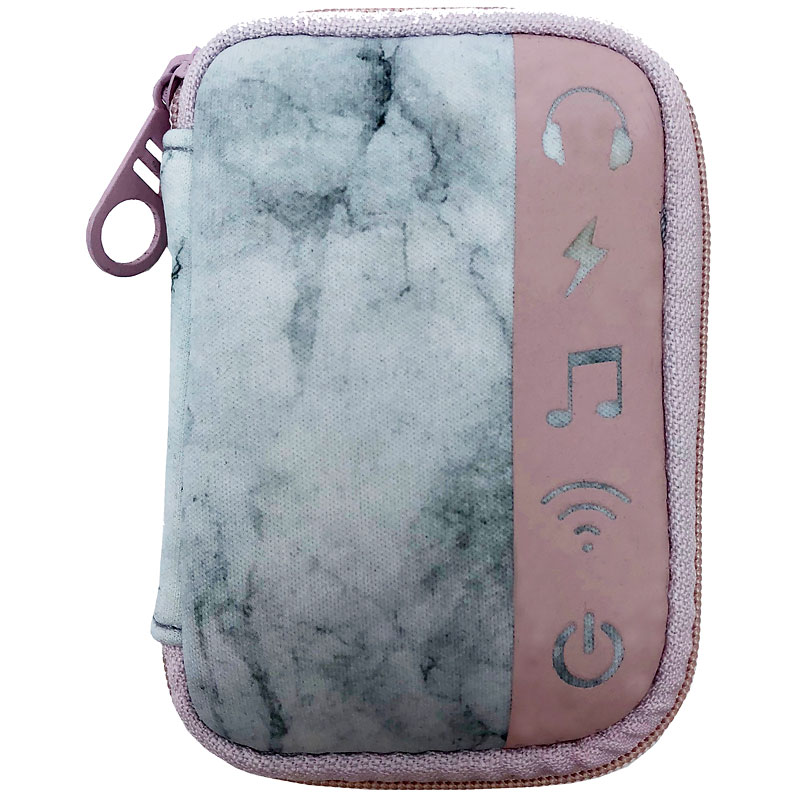 My Tagalongs Ear Bud Case - Marble & Pink - 57004