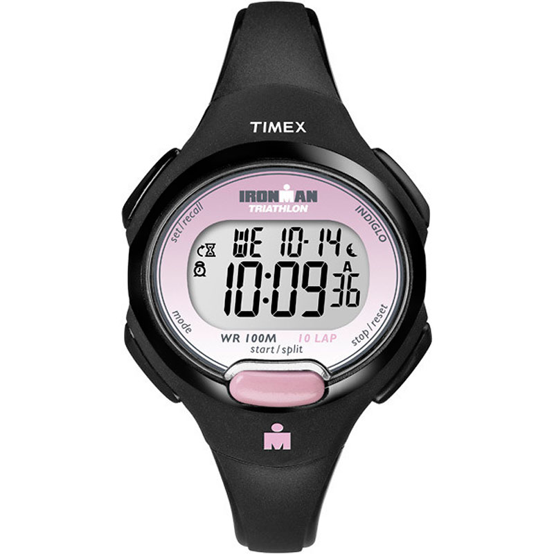 Timex Ironman Triathlon 10 Lap Watch - Black/Pink - T5K522GP