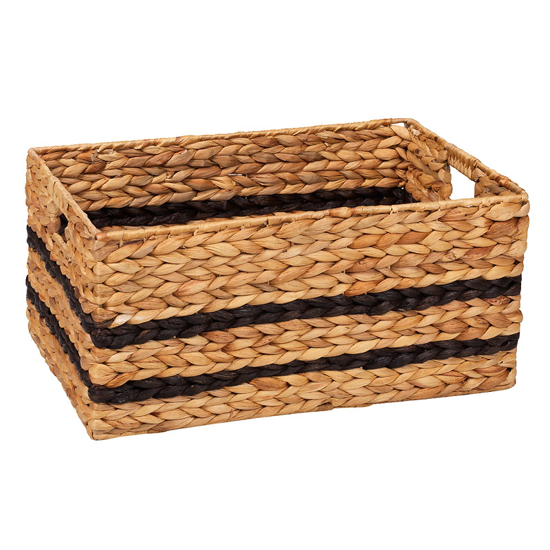 London Drugs Water Hyacinth Basket with Cut Out Handles