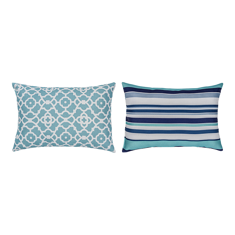 Table Trends Outdoor Reversible Cushion - Aqua - 14 x 20in