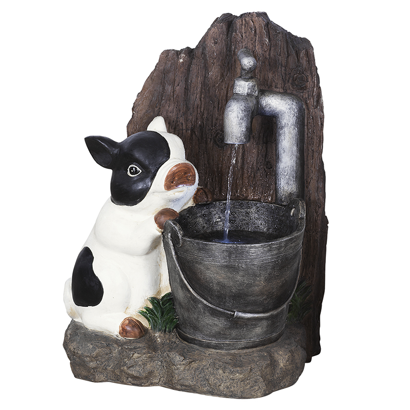 London Drugs Outdoor LED Fountain. - Pig - Small