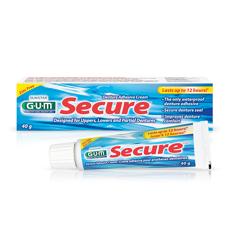 G.U.M. Secure Denture Adhesive Cream - 40g