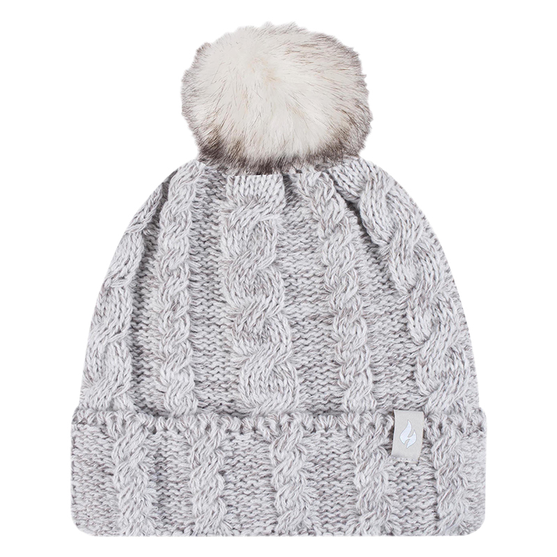 Heat Holders Girl's Cable Hat - Oat