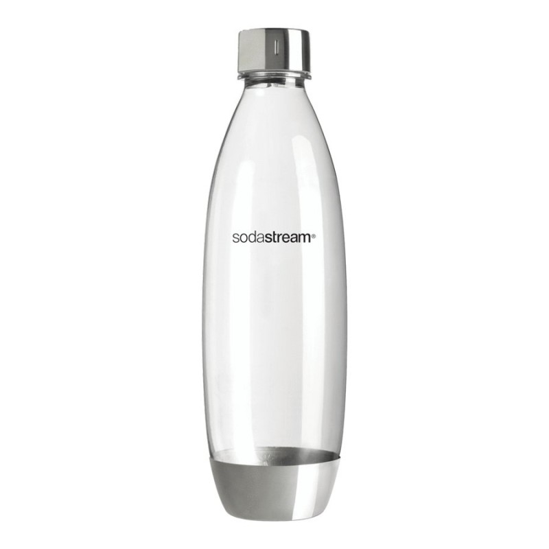 SodaStream 1L Fuse Carbonating Bottle - Stainless Steel