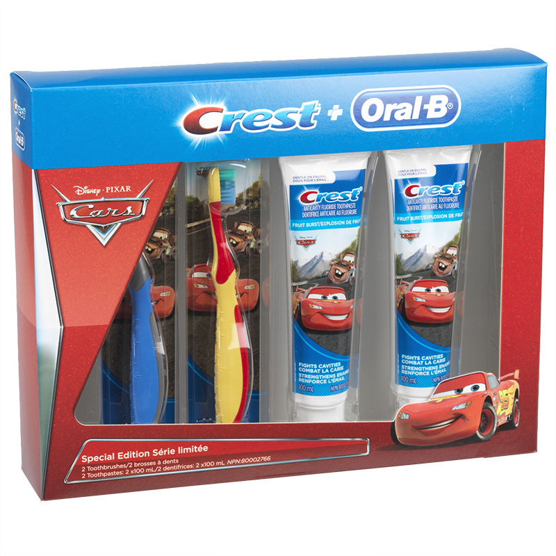 Crest + Oral B Special Edition Disney Cars Pack