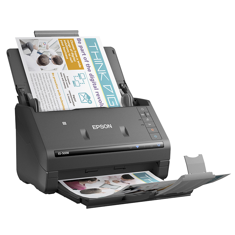Epson Workforce ES-500W Wireless Duplex Document Scanner - B11B228201