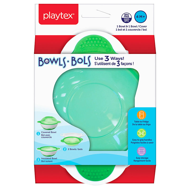 Playtex Use 3 Ways Bowls - Assorted