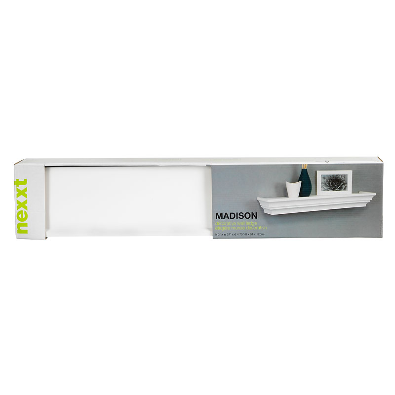 Nexxt Madison Picture Wall Ledge - White - 24in