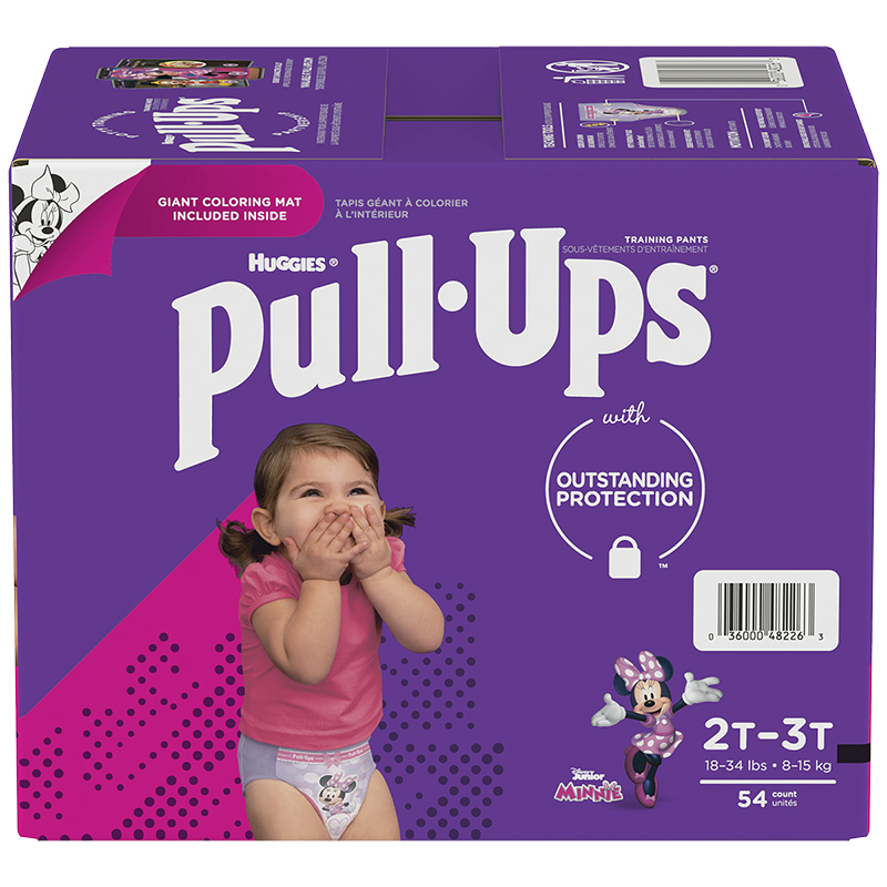 Pull-Ups Learning Designs Training Pants - Girls - Size 2T-3T - 54's