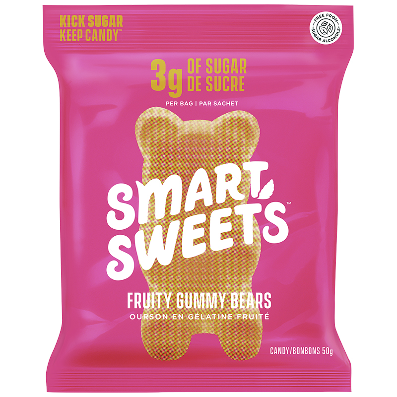 Smart Sweets Gummy Bears - Fruity - 50g