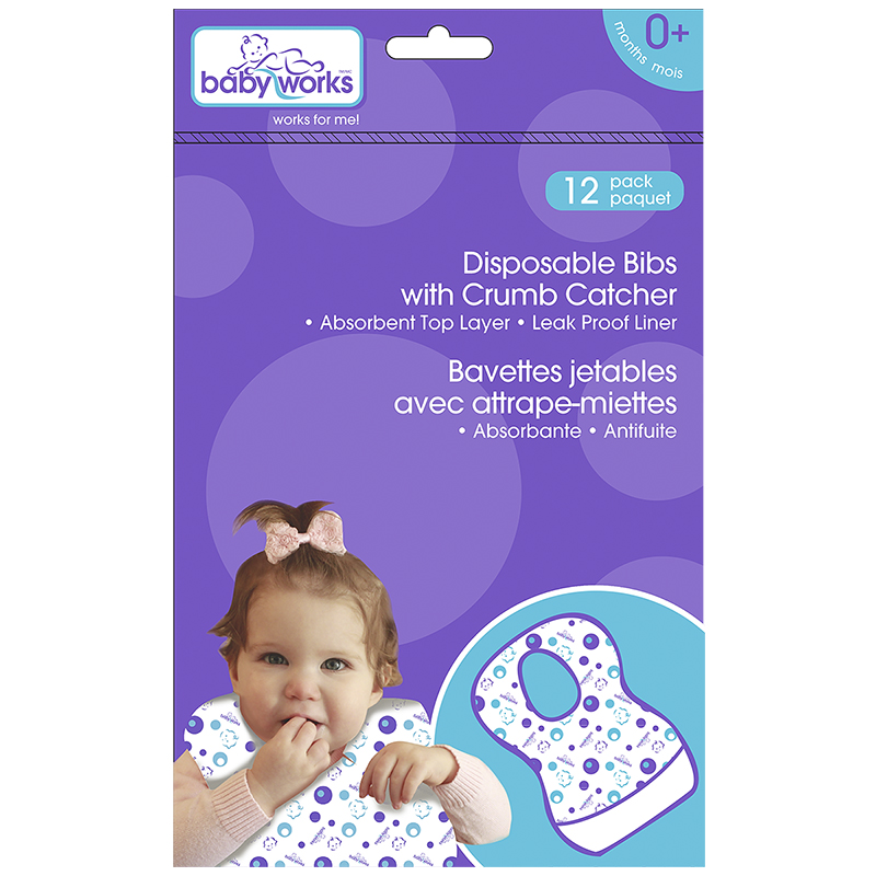 Baby Works Disposable Bibs - 12s