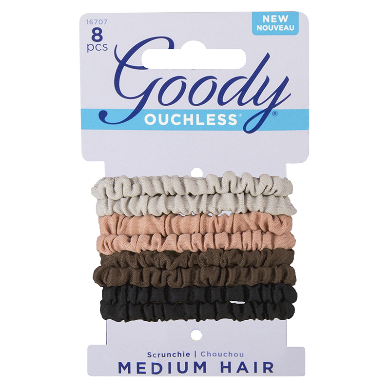 Goody Ouchless Scrunchie Medium Hair - 16707 - 8's