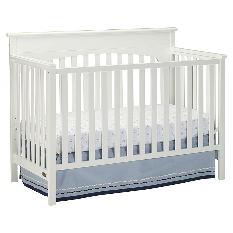 Graco Lauren 4-in-1 Convertible Crib - White - 04530-361