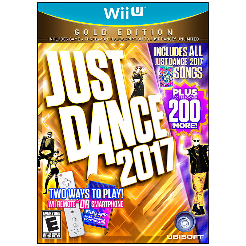 Wii U Just Dance 2017 Gold Edition