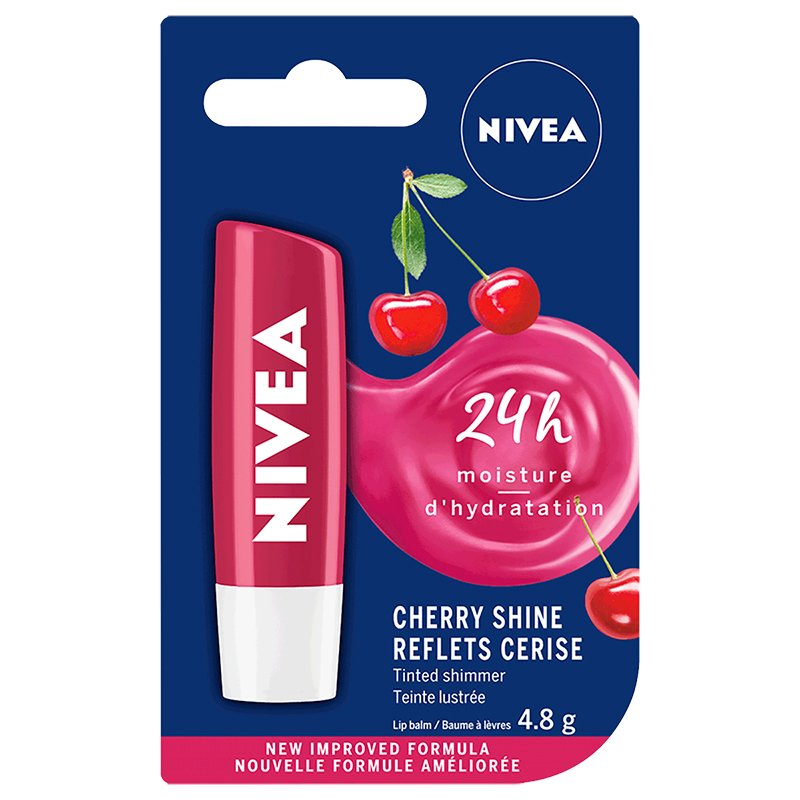 Nivea Fruity Shine Cherry Lip Care - 4.8g