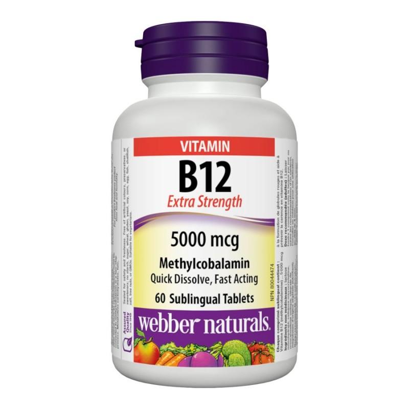 Webber Vitamin B12 Extra Strength - 5000mcg - 60's