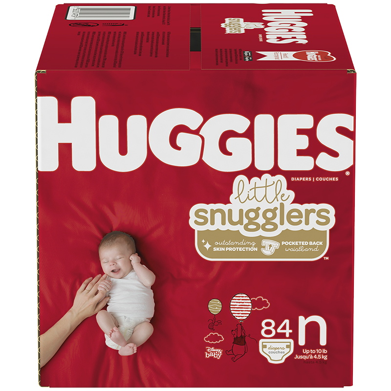 Huggies Little Snugglers Diapers - Newborn - 84's