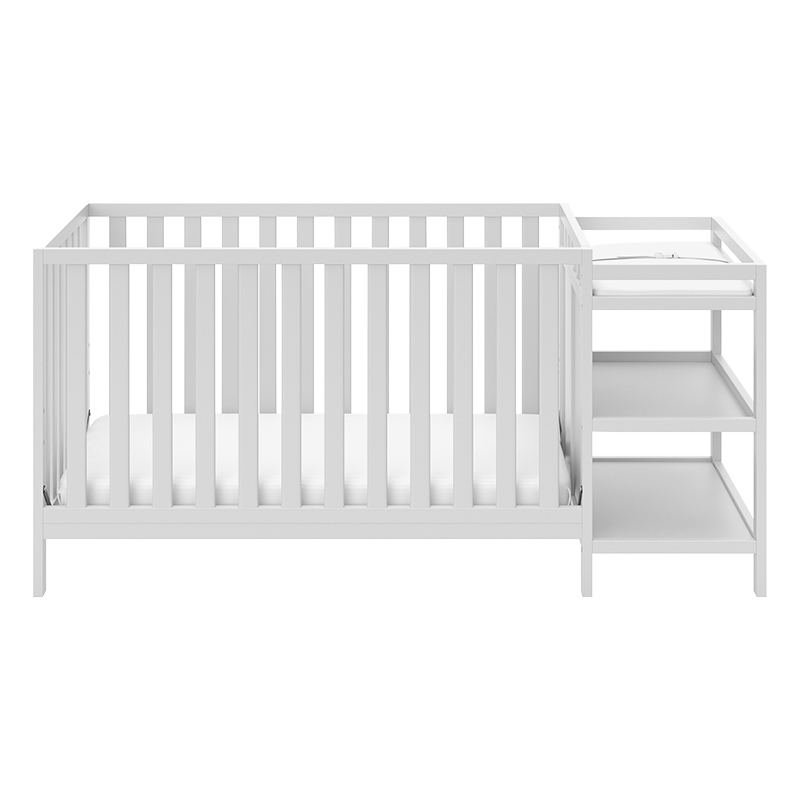 Storkcraft Pacific 4-in-1 Convertible Crib And Changer - White - 04585-101